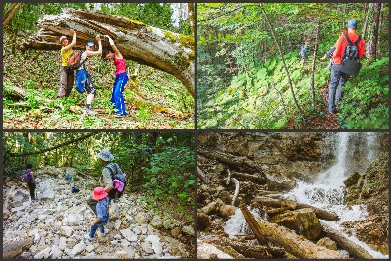 пешеходный тур Мезмай Алибастровый водопад 2