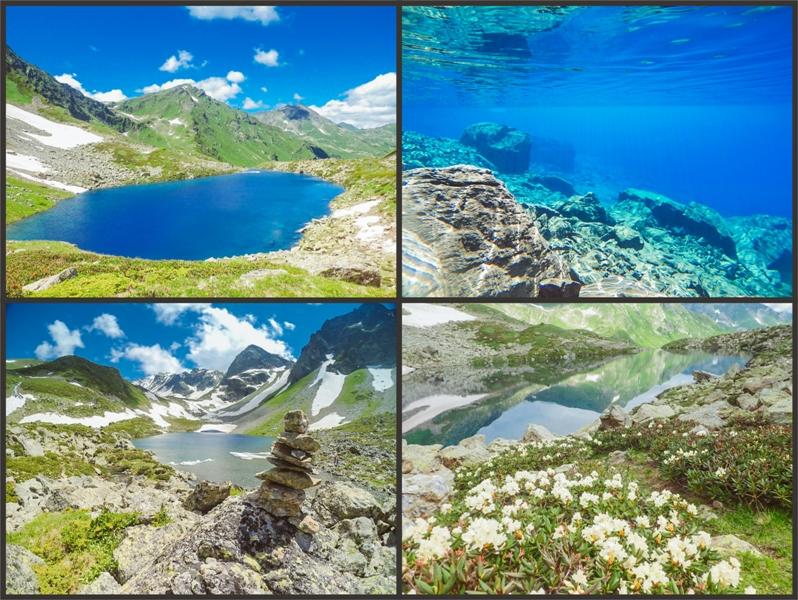 пешеходный тур Архыз озеро семицветное 3